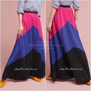 Anthropologie NWT Tracy Reese pleated maxi skirt